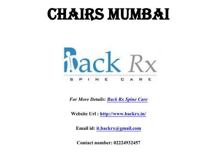 Chairs mumbai