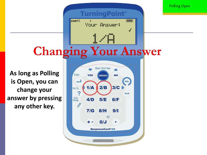 Changing Your Answer