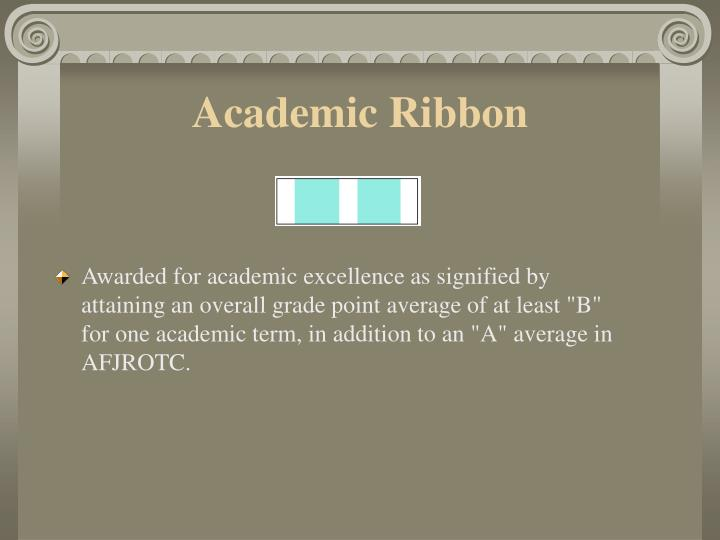 Academic Ribbon