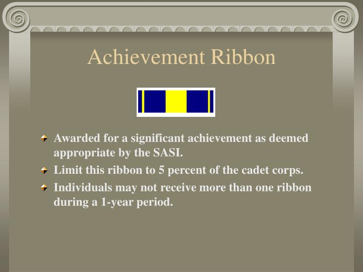 Achievement Ribbon