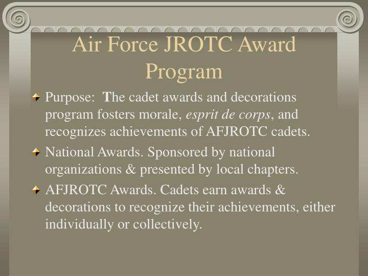 Air Force JROTC Award Program