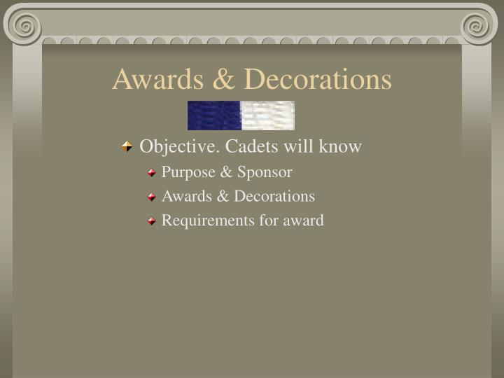 Awards decorations