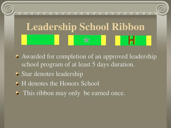Leadership School Ribbon