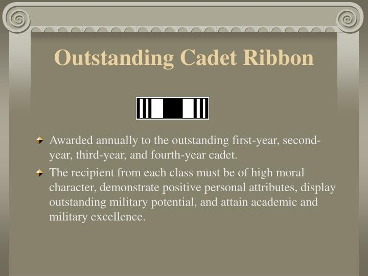 Outstanding Cadet Ribbon