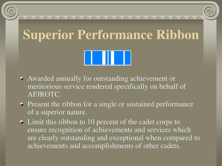 Superior Performance Ribbon