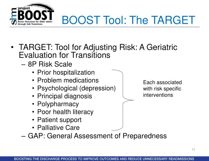BOOST Tool: The TARGET
