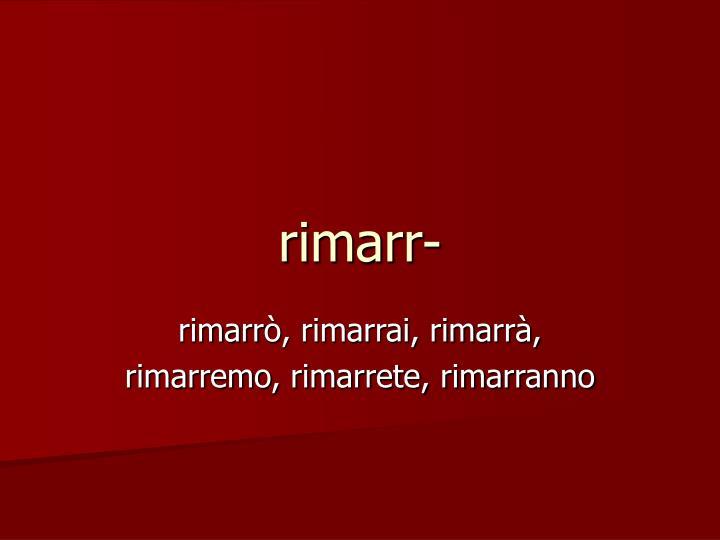 rimarr-