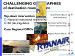 challenging geographies of destination management