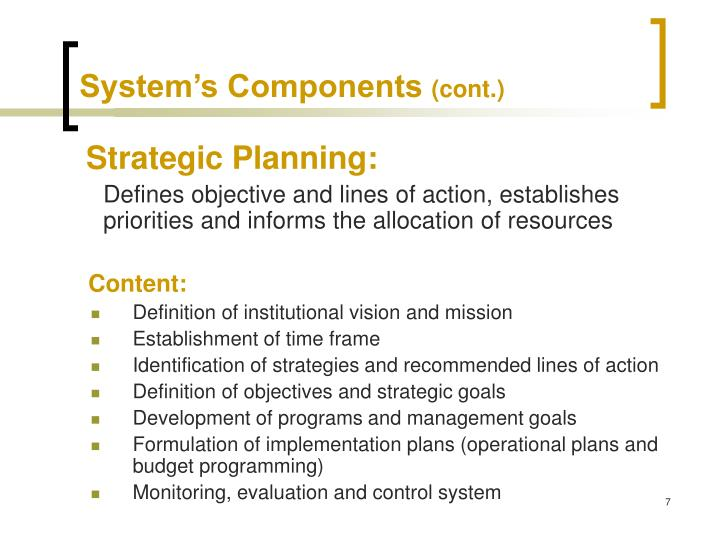 System's Components