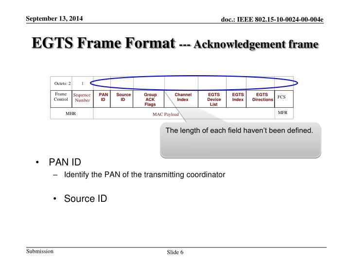 EGTS Frame Format