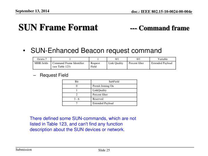 SUN Frame Format