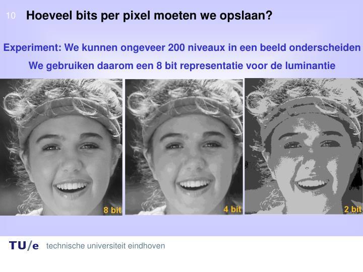 Hoeveel bits per pixel moeten we opslaan?