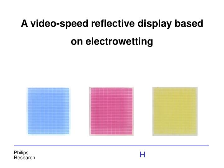 A video-speed reflective display based