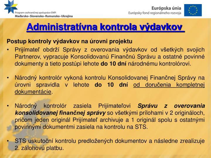 Administratívna kontrola výdavkov