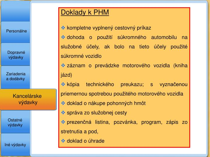 Doklady k PHM