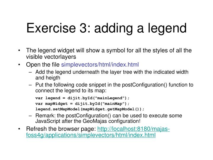 Exercise 3: adding a legend