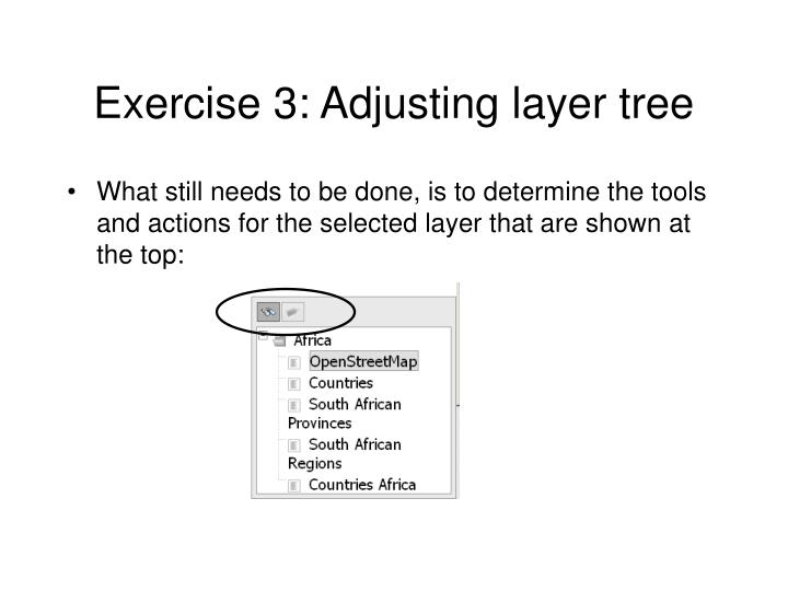 Exercise 3: Adjusting layer tree