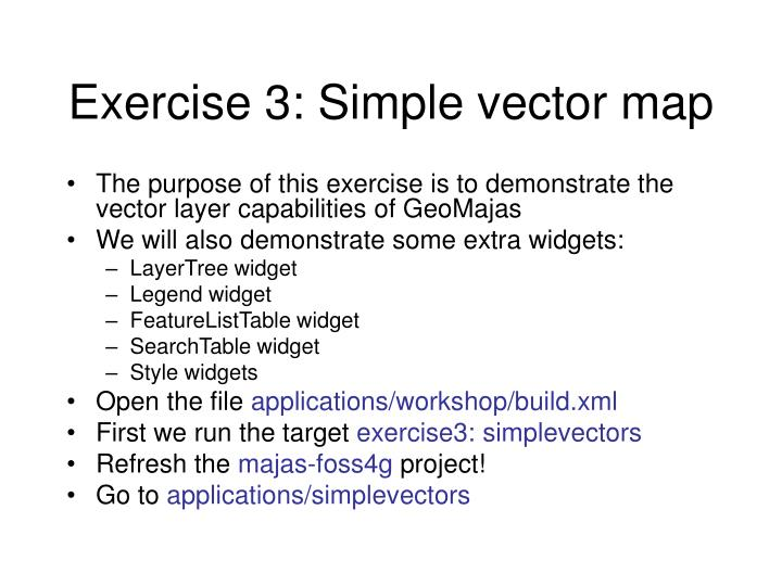 Exercise 3: Simple vector map