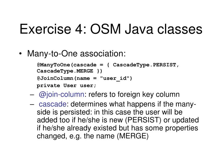 Exercise 4: OSM Java classes