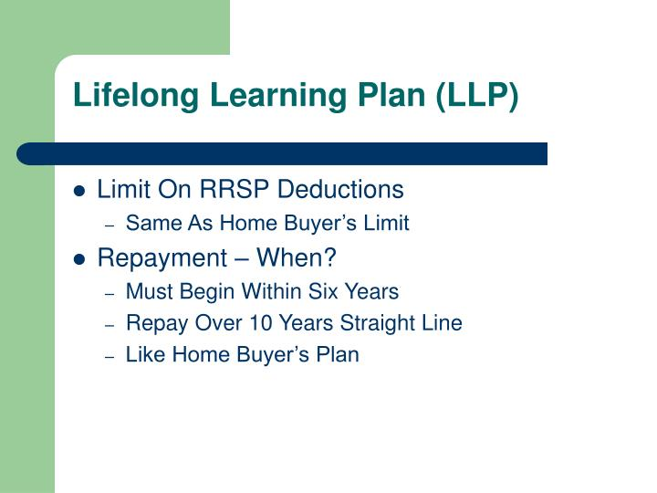 Lifelong Learning Plan (LLP)