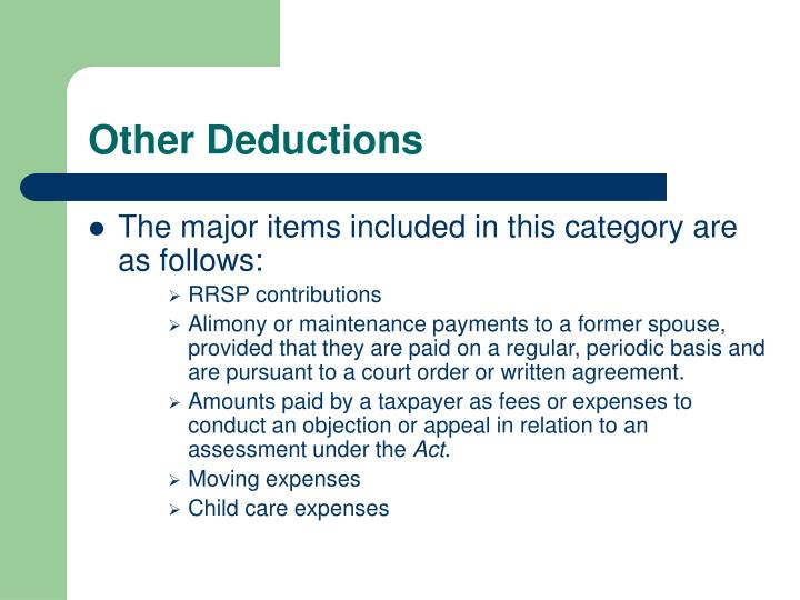 Other Deductions