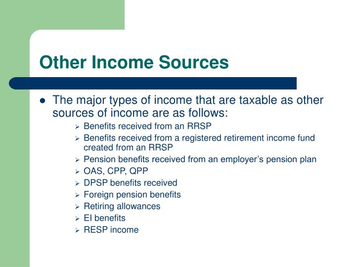 Other Income Sources