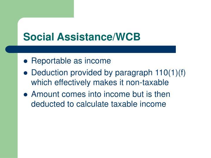 Social Assistance/WCB