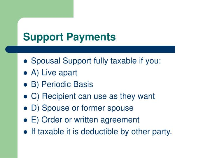 Support Payments