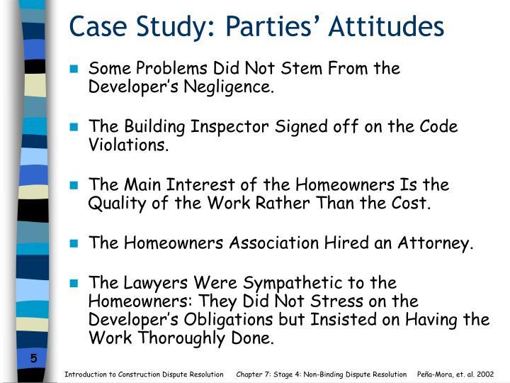 Case Study: Parties' Attitudes