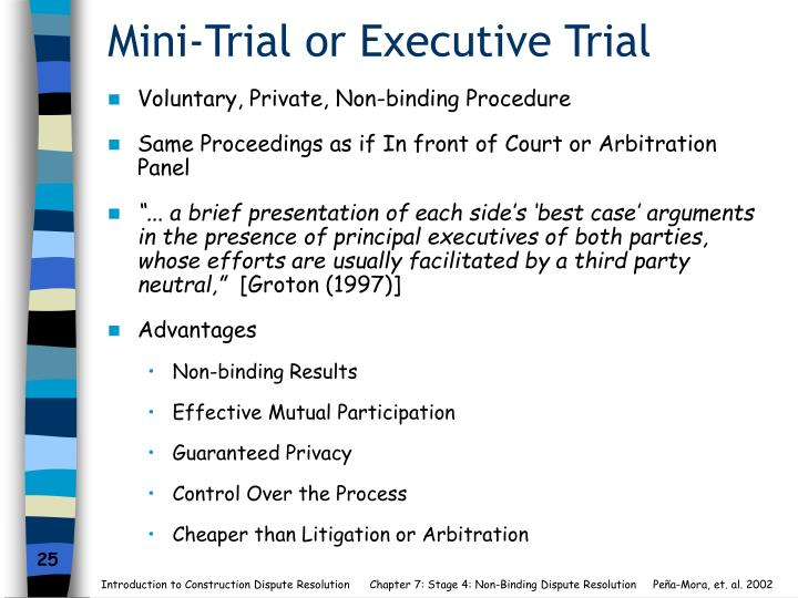 Mini-Trial or Executive Trial