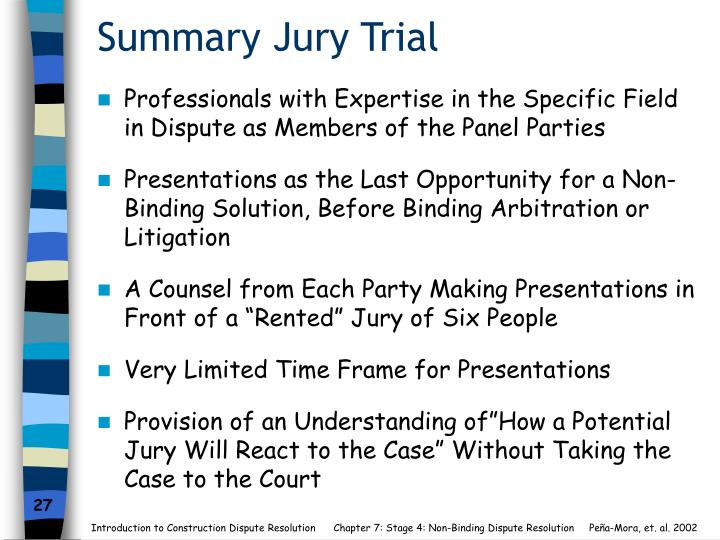 Summary Jury Trial