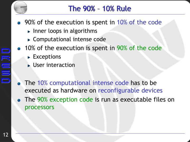 The 90% – 10% Rule