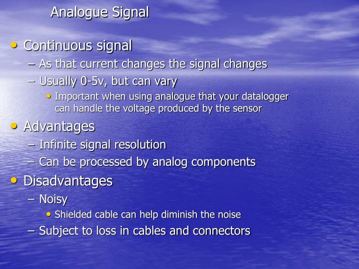 Analogue Signal