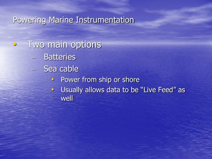 Powering Marine Instrumentation