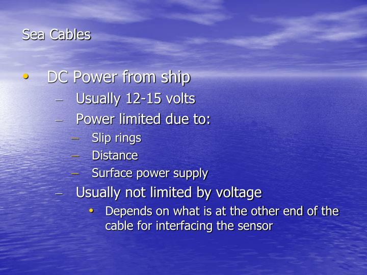 Sea Cables