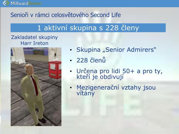 Senioři v rámci celosvětového Second Life