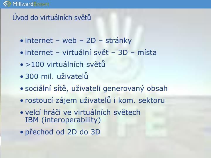 Úvod do virtuálních světů