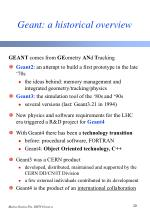 geant a historical overview