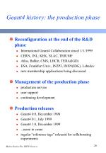 geant4 history the production phase