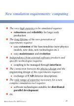 new simulation requirements computing
