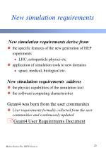 new simulation requirements
