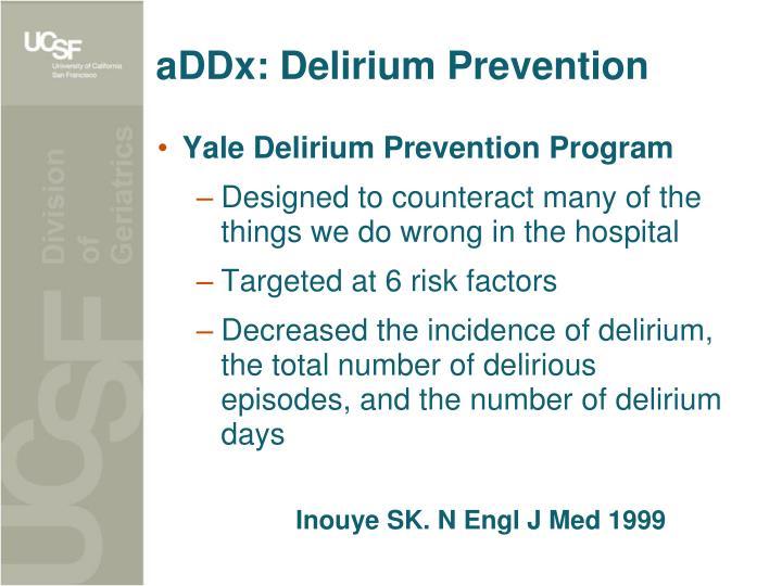 aDDx: Delirium Prevention