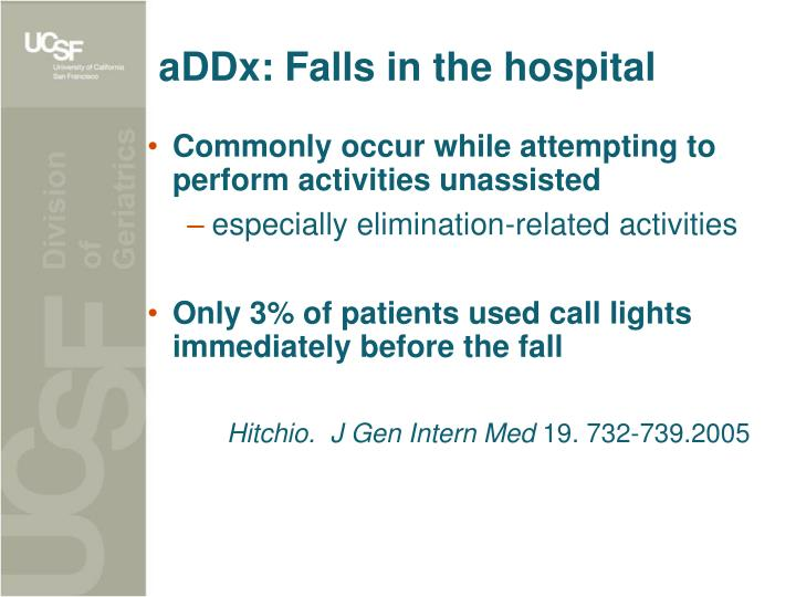 aDDx: Falls in the hospital