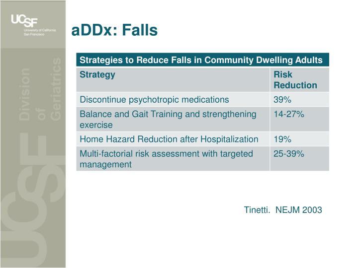 aDDx: Falls