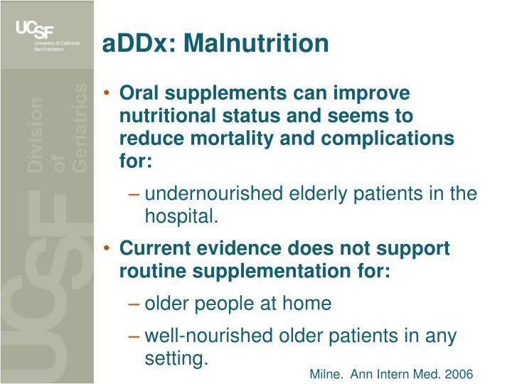 aDDx: Malnutrition