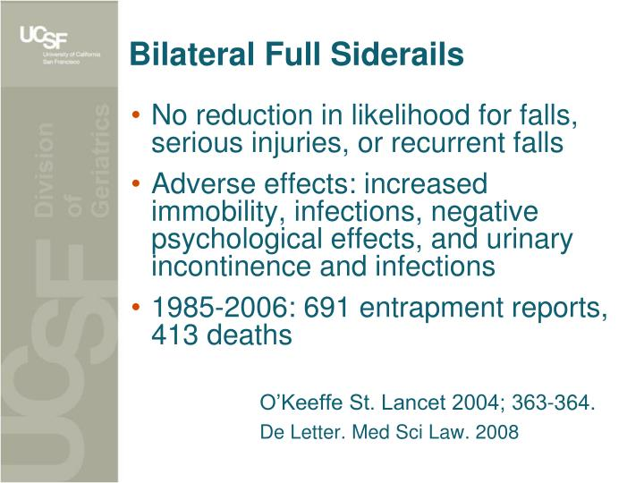 Bilateral Full Siderails