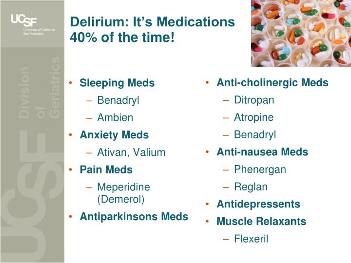 Delirium: It's Medications