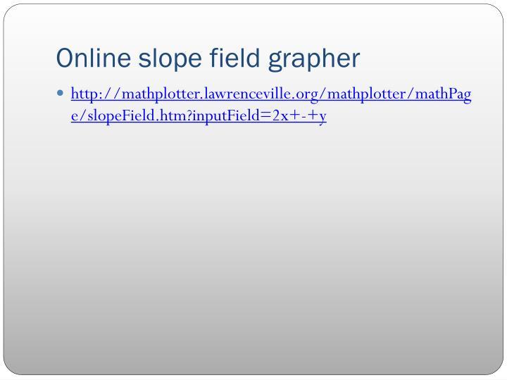 Online slope field