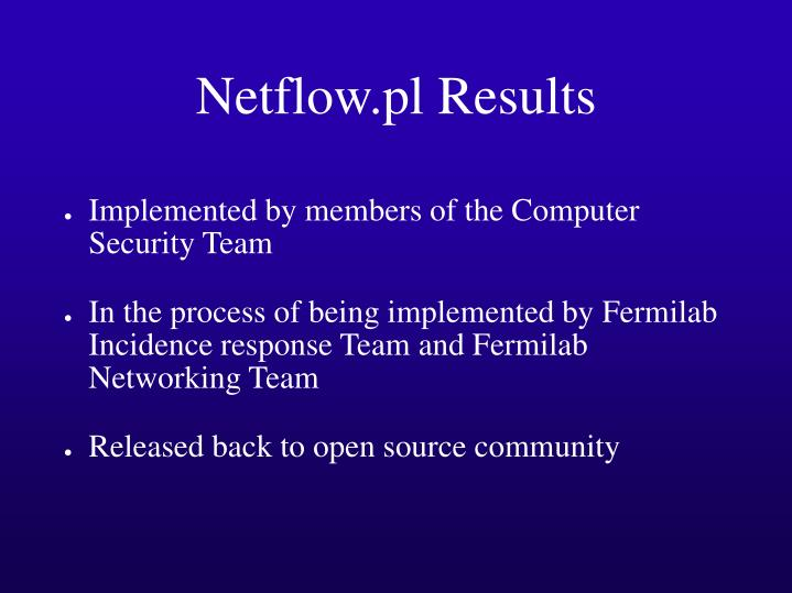 Netflow.pl Results