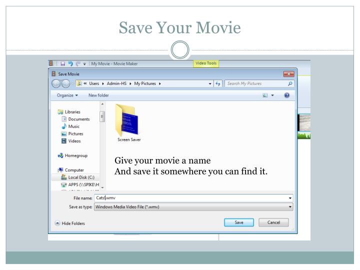 Save Your Movie